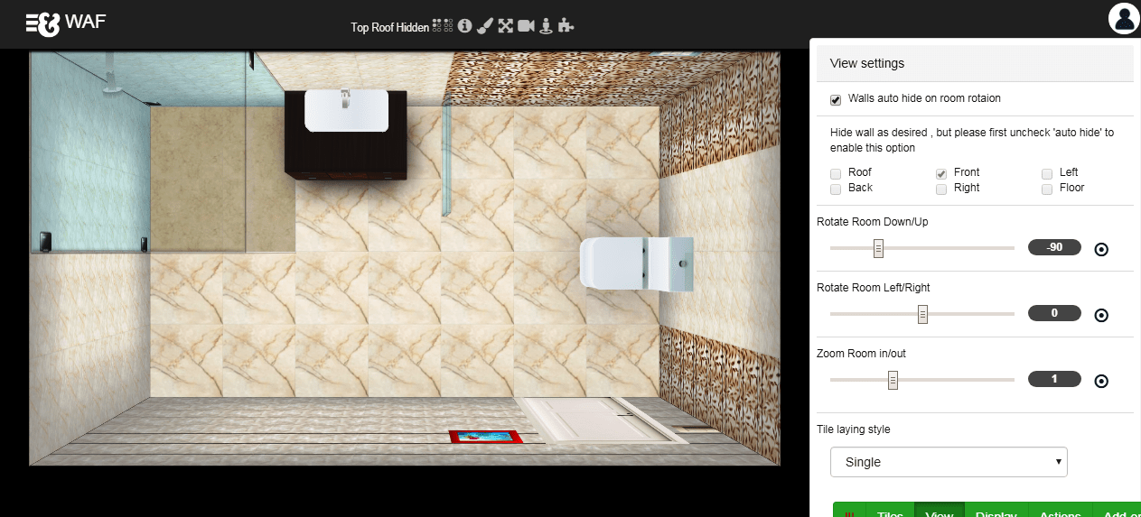 Wall And Floor 3d Tile Visualizer And Bathroom Design Preview Design Wall And Floor Tile